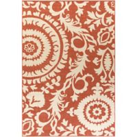 Surya Alfresco Indoor/Outdoor 7'6 x 10'9 Area Rug in Red/Natural