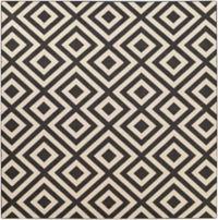 Surya Alfresco 8'9 Square Indoor/Outdoor Area Rug in Black/Cream