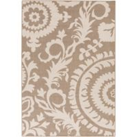 Surya Alfresco Indoor/Outdoor 2'3 x 4'6 Accent Rug in Brown/Natural