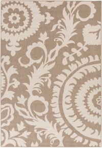 Surya Alfresco Indoor/Outdoor 8'9 x 12'9 Area Rug in Brown/Natural