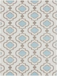 Surya Horizon 5'3 x 7'3 Woven Area Rug in Denim/Cream