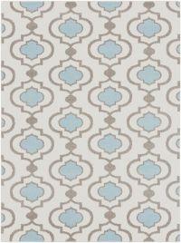 Surya Horizon 6'7 x 9'6 Woven Area Rug in Denim/Cream
