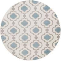 Surya Horizon Woven 7'10 Round Area Rug in Denim/Cream