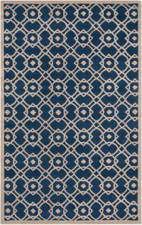 Surya Goa Geometric 9' x 13' Area Rug in Blue/Neutral