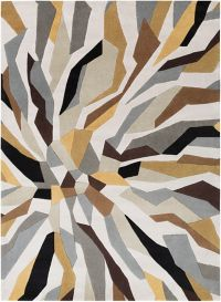 Surya Cosmopolitan Abstract 8' x 11' Area Rug in Lime/Ivory