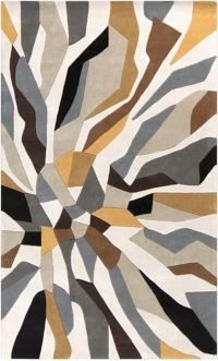Surya Cosmopolitan Abstract 9' x 13' Area Rug in Lime/Ivory