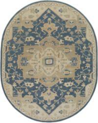 Surya Caesar 6' x 9' Oval Area Rug in Ivory/Camel