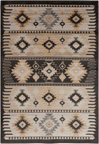 Surya Geometric Diamond Print 8'10 x 12'9 Area Rug in Khaki/Black
