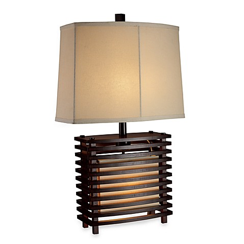 dimond lighting burns valley espresso wood table lamp bed bath beyond. Black Bedroom Furniture Sets. Home Design Ideas