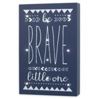 """Little Love by NoJo® """"Be Brave Little One"""" 8-Inch x 12-Inch Light-Up Wall Art"""