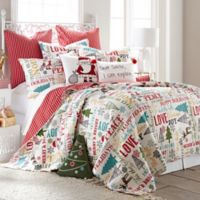 Levtex Home Santa Claus Lane Reversible Full/Queen Quilt Set in Red
