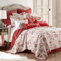 Levtex Home Yuletide Reversible Full/Queen Quilt Set in Red/White