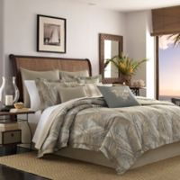 Tommy Bahama® Raffia Palm King Comforter Set in Medium Brown