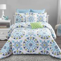 Style Quarters Cassie Comforter Set in Blue/Green