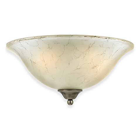 Imported 2-Light Duchess Flush Wall Light with Grey Marble Glass