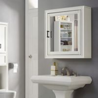 Crosley Furniture Tara Bath Mirror Cabinet in White