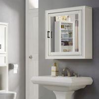 Crosley Furniture Tara Bath Mirror Cabinet in White