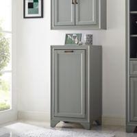 Crosley Furniture Tara Linen Hamper in Vintage Grey
