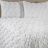 Anthology™ Tufted and Looped King Bedspread Set in White