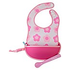 b. box® Flower Power Travel Bib & Spoon Set