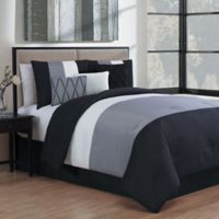 Avondale Manor Manchester 7-Piece King Comforter Set in Black/Grey