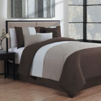 Avondale Manor Manchester 7-Piece Queen Comforter Set in Brown