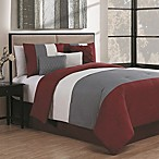 Avondale Manor Manchester 7-Piece King Comforter Set in Burgundy