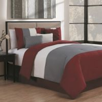 Avondale Manor Manchester 7-Piece Queen Comforter Set in Burgundy