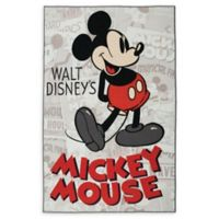 Disney® Classic Mickey Mouse 4'6 x 6'6 Area Rug