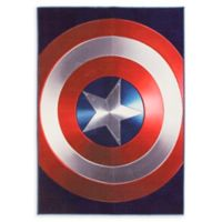 Captain America Shield 4'6 x 6'6 Area Rug