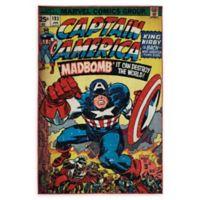 Captain America Comic Cover 4'6 x 6'6 Area Rug