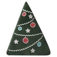 Levtex Home Santa Claus Christmas Tree Throw Pillow in Green