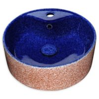 ANZZI Regal Crown Ceramic Vessel Sink in Royal Blue Finish