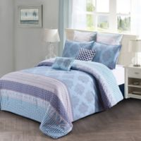 Style Quarters Lilou King Comforter Set in Blue/Grey