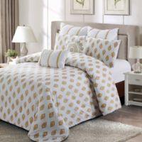 Style Quarters Gold Leaf King Comforter Set in Gold