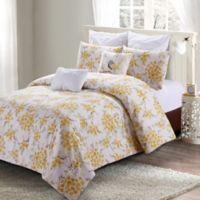 Savanah Queen Comforter Set in Yellow