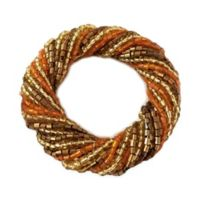 Harvest Beaded Twist Napkin Ring in Gold (Set of 4)