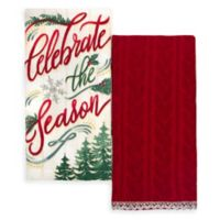 "Winter Wonderland 2-Pack ""Celebrate"" Kitchen Towels"