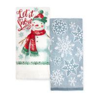 Winter Wonderland 2-Pack Snowman Kitchen Towels