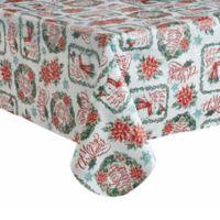 Snowman 60-Inch x 102-Inch Oblong Vinyl Tablecloth