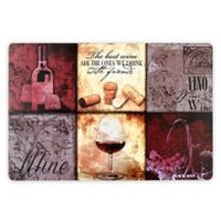 Wine Patchwork Laminate Placemats (Set of 4)