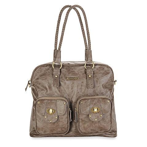 timi leslie rachel diaper bag in taupe buybuy baby. Black Bedroom Furniture Sets. Home Design Ideas