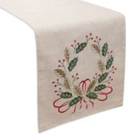 Holiday Wreath 90-Inch Table Runner