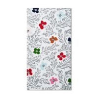 Kate Floral Block Print Kitchen Towel in White