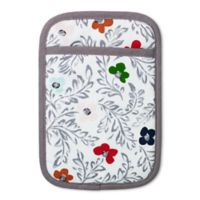 Kate Floral Block Print Pot Holder in White