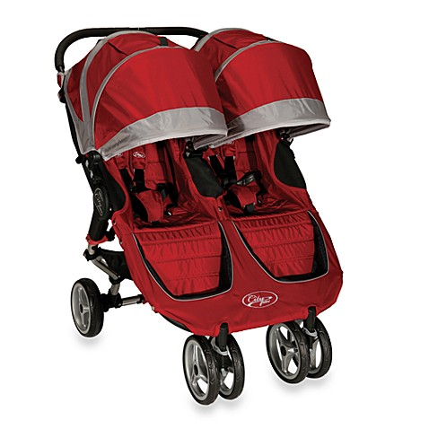 Baby Jogger™ City Mini Double Stroller in Crimson/Grey