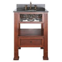 Avanity Napa 25-Inch Single Vanity Combo with Black Granite Top and Mirror in Dark Cherry