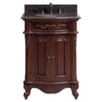 Avanity Provence 25-Inch Vanity Combo with Mirror in Cherry Wood Finish