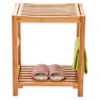 New Ridge Home Goods Bamboo Shower Bench