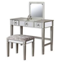 Linon Home Patrice Vanity Set in Grey
